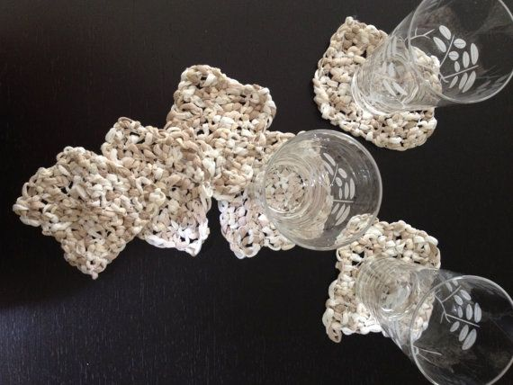 Crochet Coaster Set 6 Pieces by CBDesignsPR on Etsy, $24.75