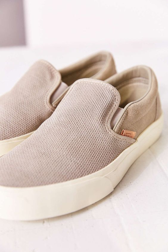39cdc53ca4fa57 Vans Classic Knit Suede Slip-On Womens Sneaker - Urban Outfitters