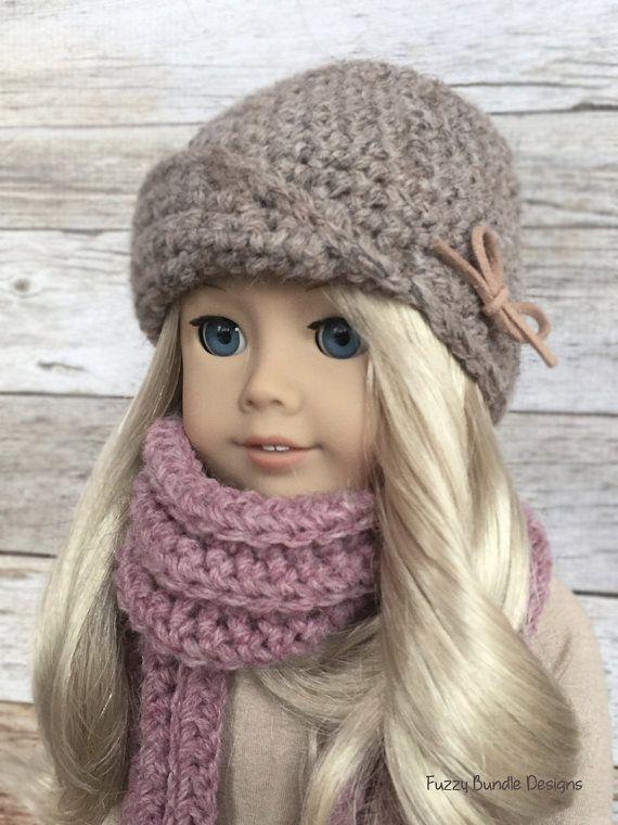 DIY Crochet Pattern - 18 inch Doll Amelie Cloche Hat PDF 03 (Fits ...