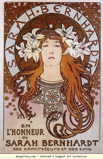 Alphonse Mucha. Sarah Bernhardt. I'm obsessed with himmm