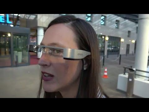 Epson Moverio BT-300, Si-OLED Smart Glass for Augmented Reality - YouTube