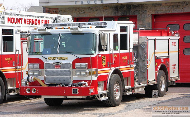 Mount Vernon Fd Engine 5 Fire Trucks Fire Equipment Emergency