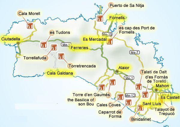 landkaart menorca Google zoeken Menorca Pinterest Menorca
