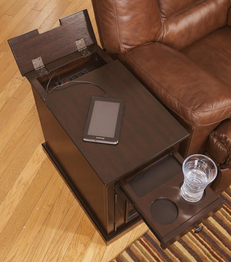 Power Strip Usb Chair Side End Table Dark Brown Chair Side Table End Tables With Storage Ashley Furniture Sale