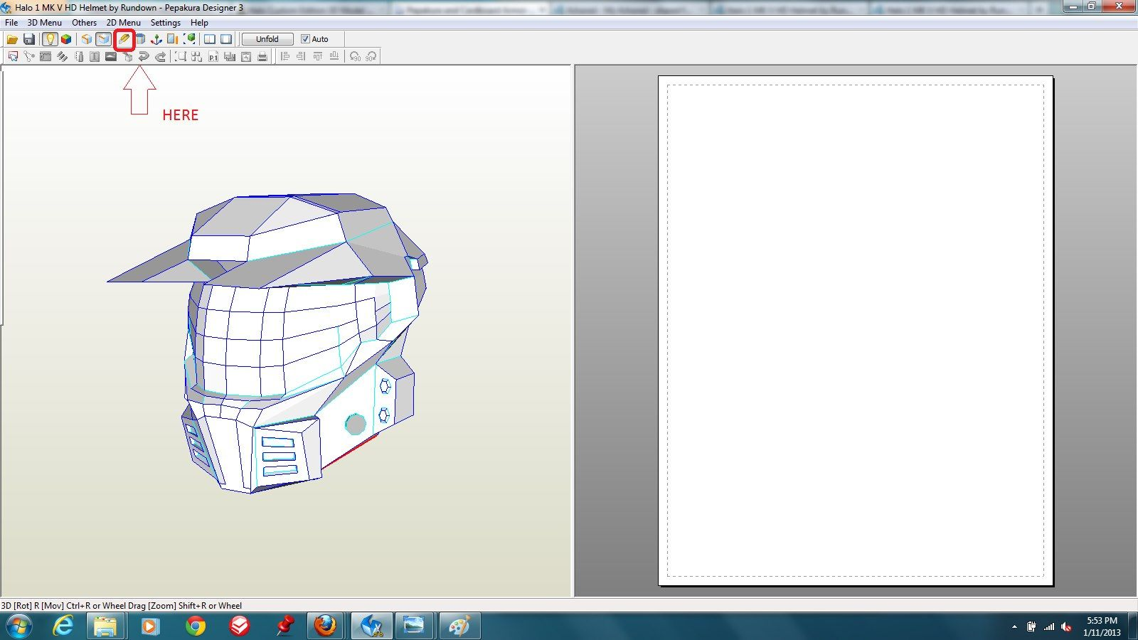 Tutorial How To Unfold Projects In Pepakura Designer By Spartansonny