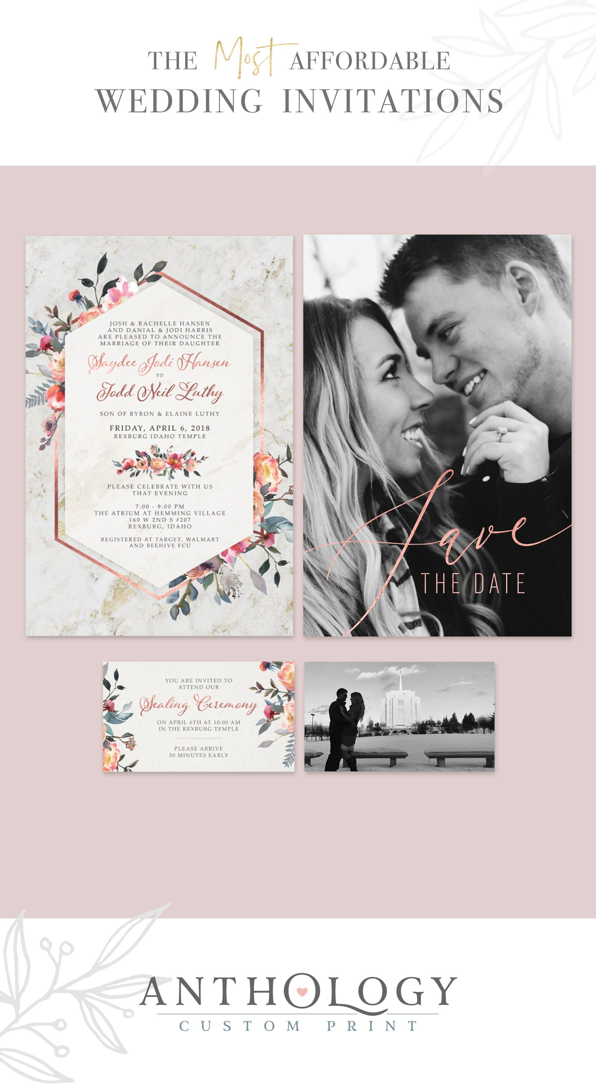 Watercolor Floral Wedding Invites Affordable Wedding Invitations Ant Rose Gold Wedding Invitations Affordable Wedding Invitations Gold Wedding Invitations