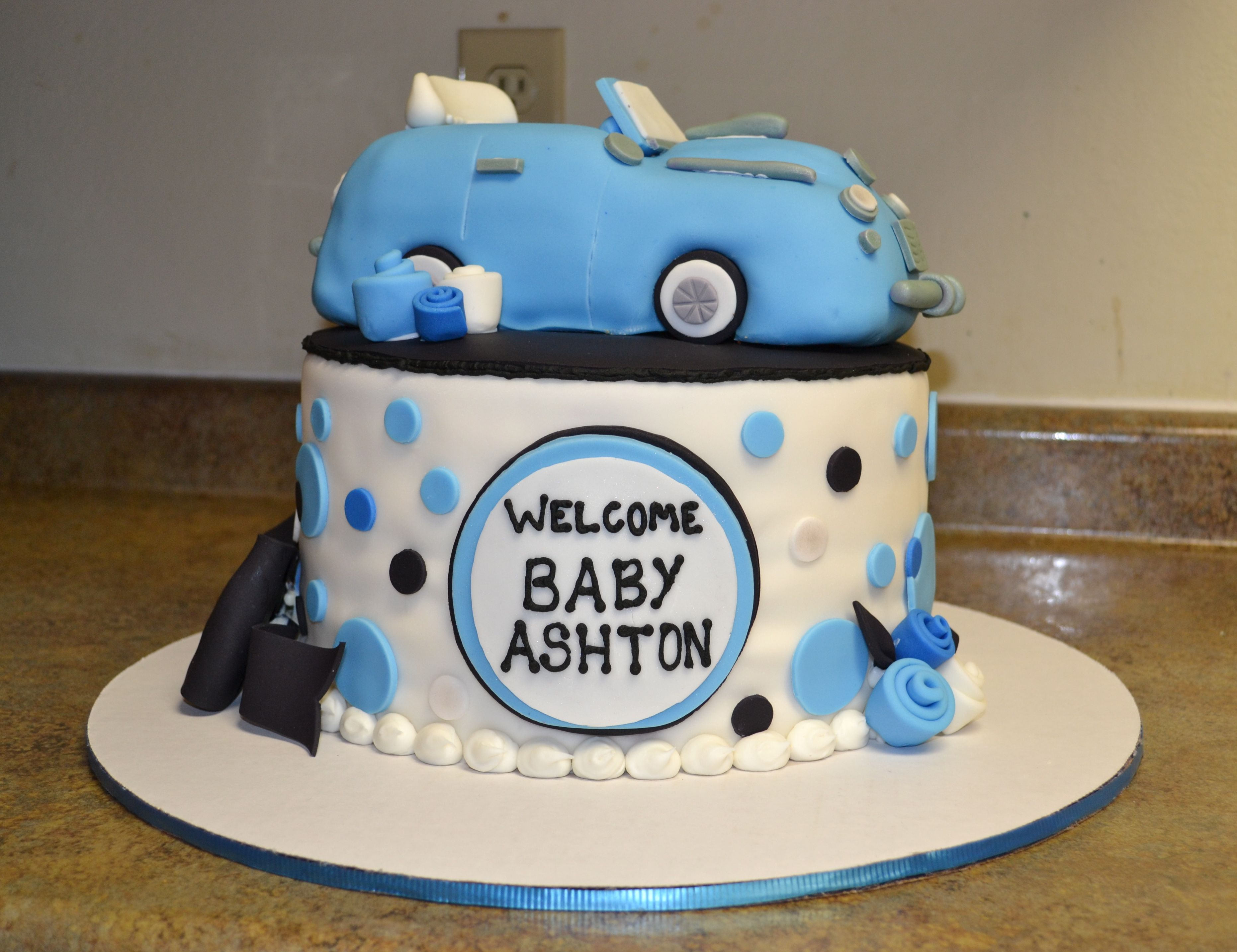 Classic Car Baby Shower Cake Baby Shower Pinterest Car Baby