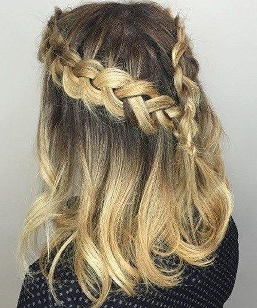 Diy Wedding Guest Hair: Extremely Beautiful Dual Braid Medium Hairstyles 2019 For
