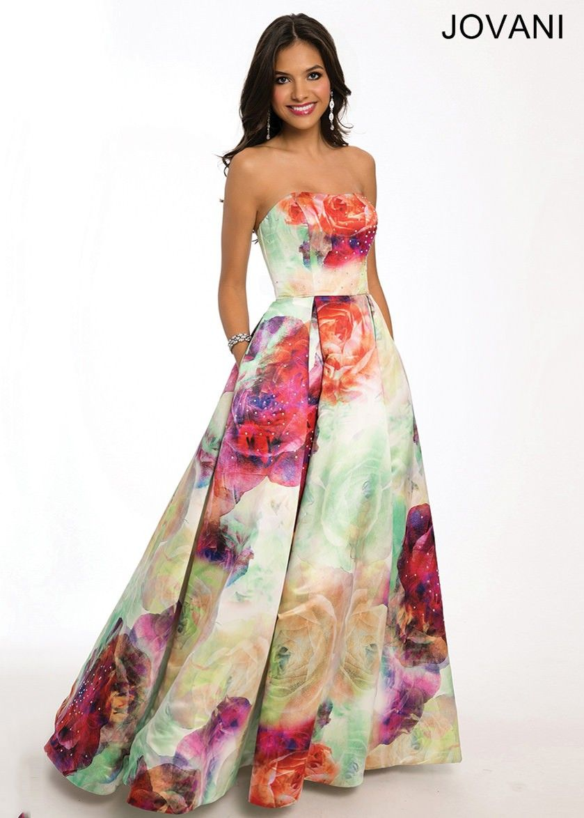 Jovani 23923 Floral Print Ball Gown | Ball gowns, Gowns and Prom ...