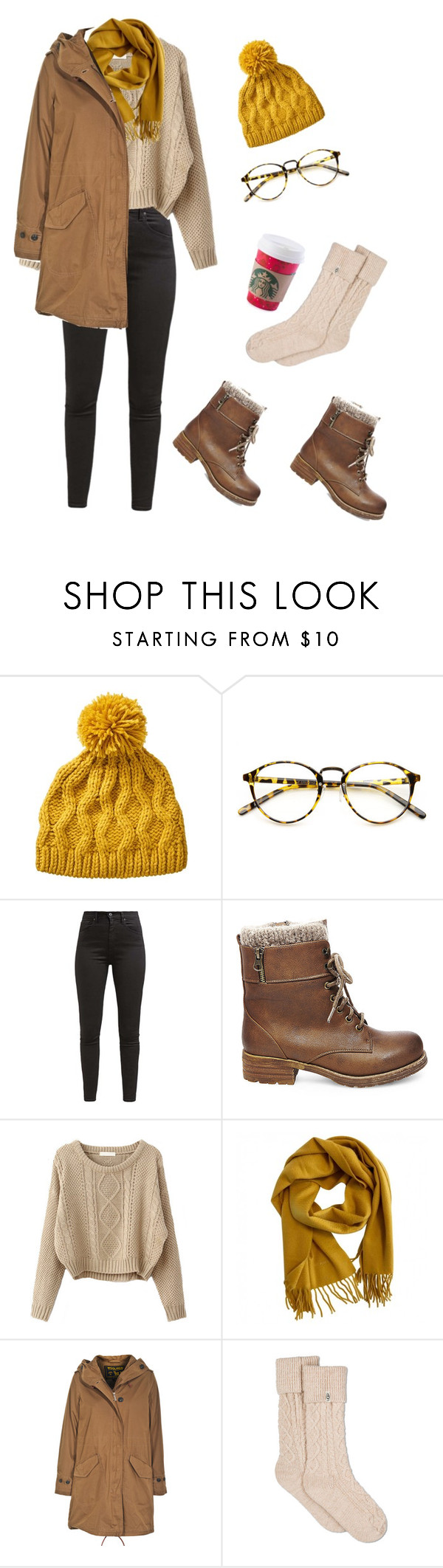 """Untitled #595"" by vangophaway ❤ liked on Polyvore featuring INDIE HAIR, Levi's, Steve Madden, Hermès, Woolrich and UGG"