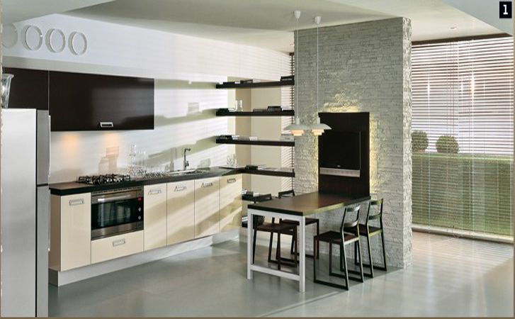 Modern Modular Kitchen Designers, Beautiful Dining Table, Chair, Hanging  Light, Wash Basin