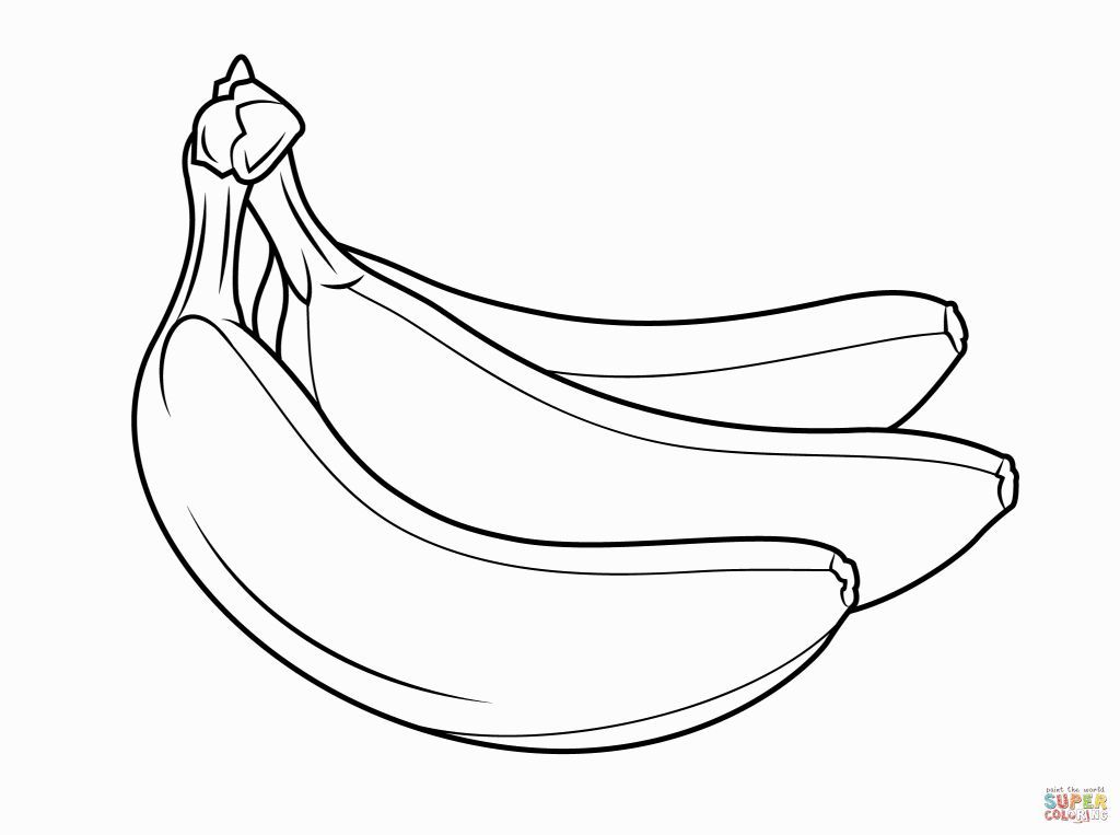 Banana Coloring Page Fruit Coloring Pages Coloring Pages Giraffe Coloring Pages
