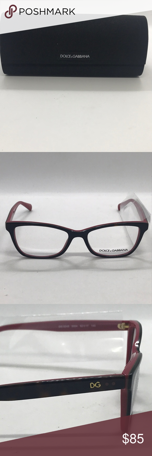 0092b8b0ddf Authentic Dolce and Gabbana eye glasses rx Dolce Eye Glasses with demo  lenses included pink and
