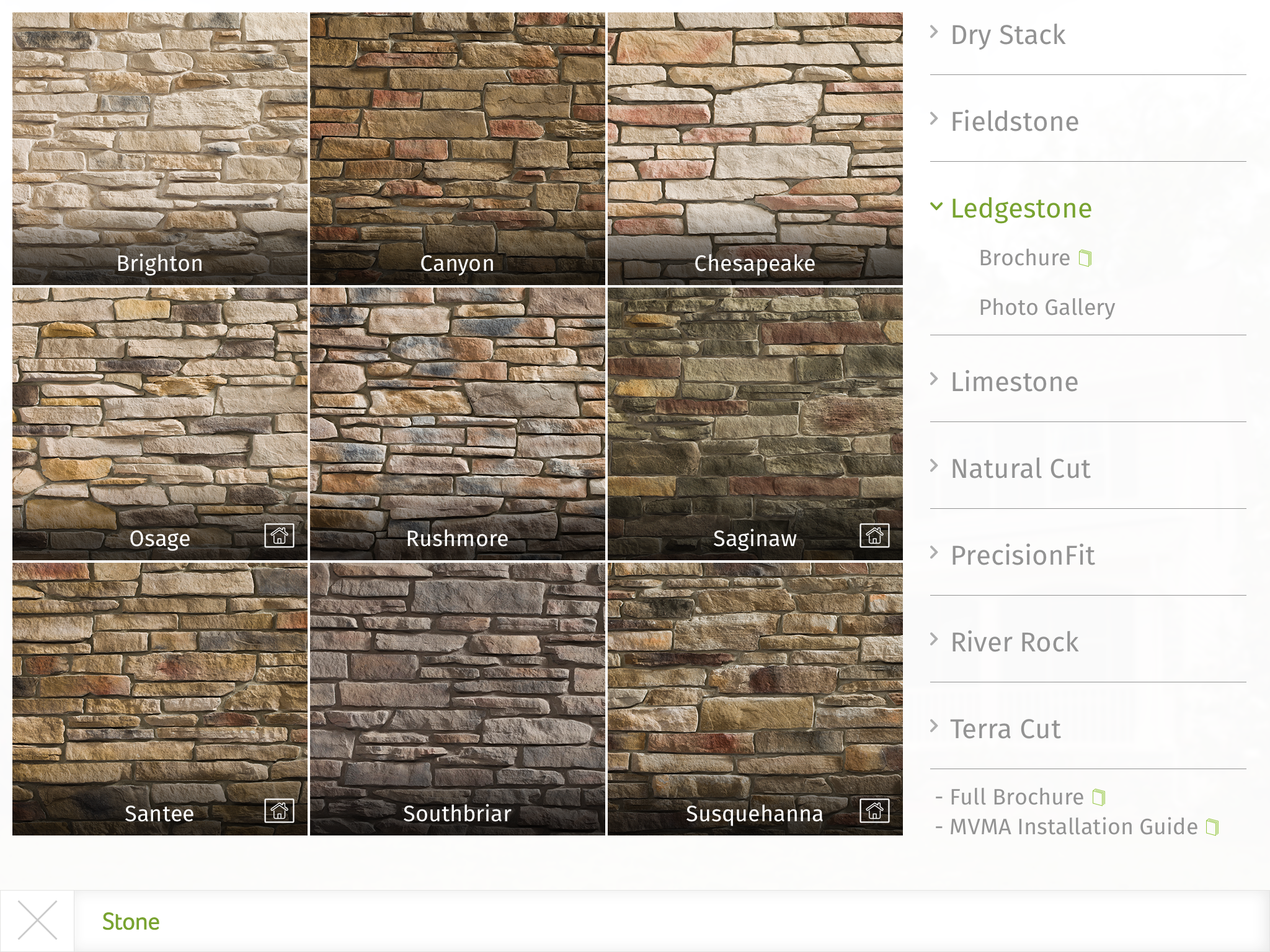 Provia S Home Exterior Design Ipad App Enables Users To Choose From Provia S Eight Styles Of Manufactured Stone App Design Ipad House Exterior Exterior Design