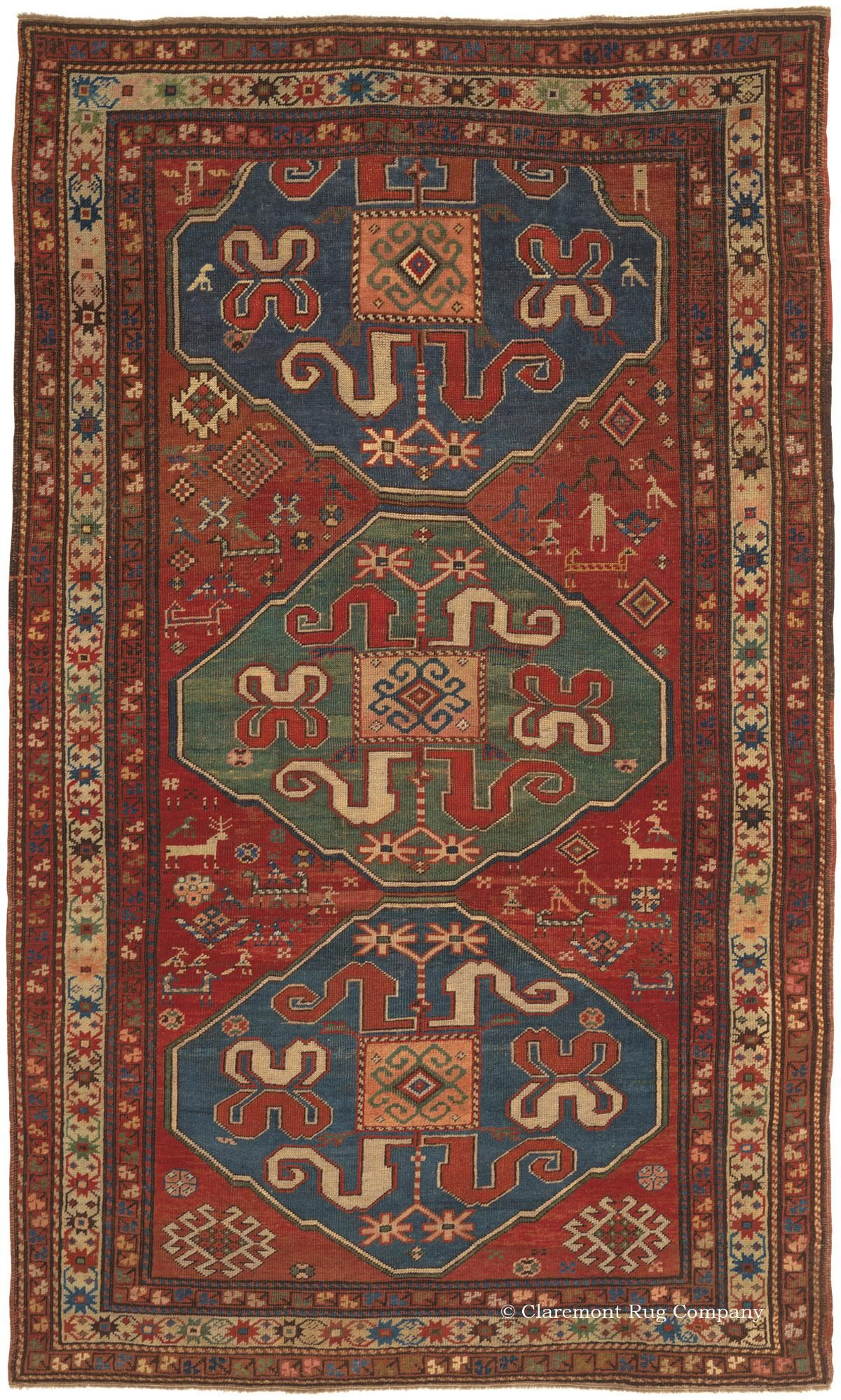 CLOUDBAND KAZAK, Southern Central Caucasian, 4ft 7in x 7ft