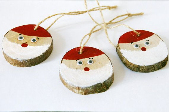 christmas tree decorations handmade wood christmas tree ornaments primitive christmas ornaments primitive santa claus ornament santa decor