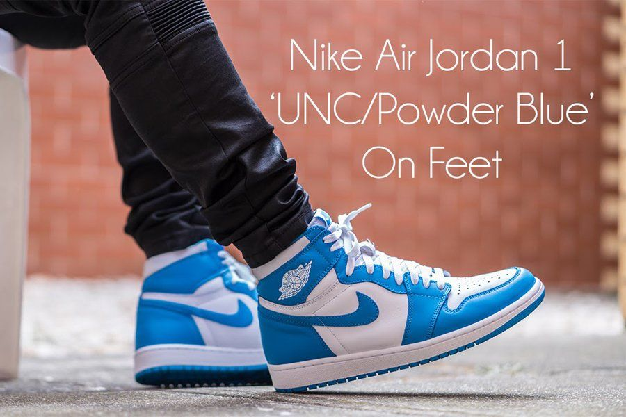 2015 Air Jordan 1 Retro High Og Unc White Dark Powder Blue Air
