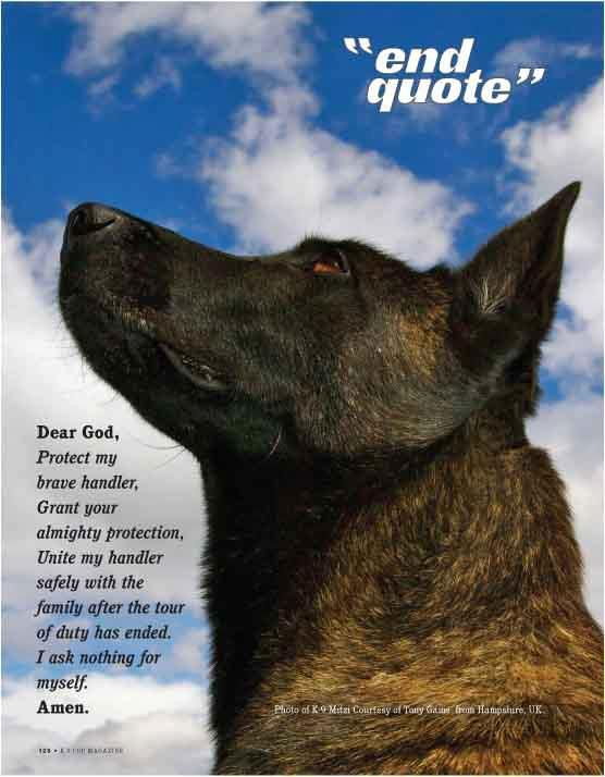 Dear God Protect My Brave Handler Grant Your Almighty Protection Unite My Handler Safely With The Family After The K9 Police Dogs Military Dogs Police Dogs