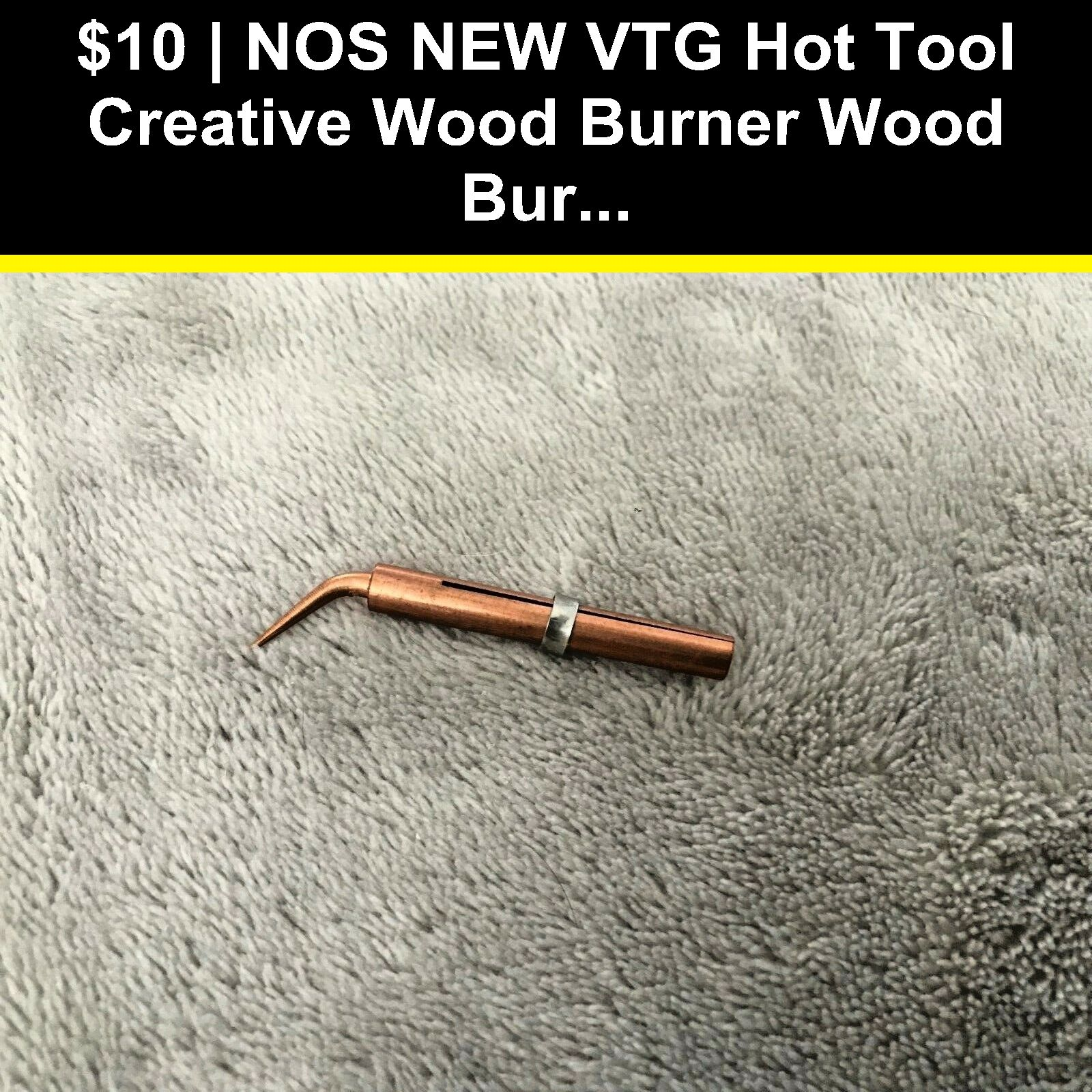 Wood Burning Pens 183150 Nos New Vtg Hot Tool Creative Wood Burner Wood Burning Tip Point 8x Bent Stencil Buy It No Wood Burner Wood Burning Tips Hot Tools