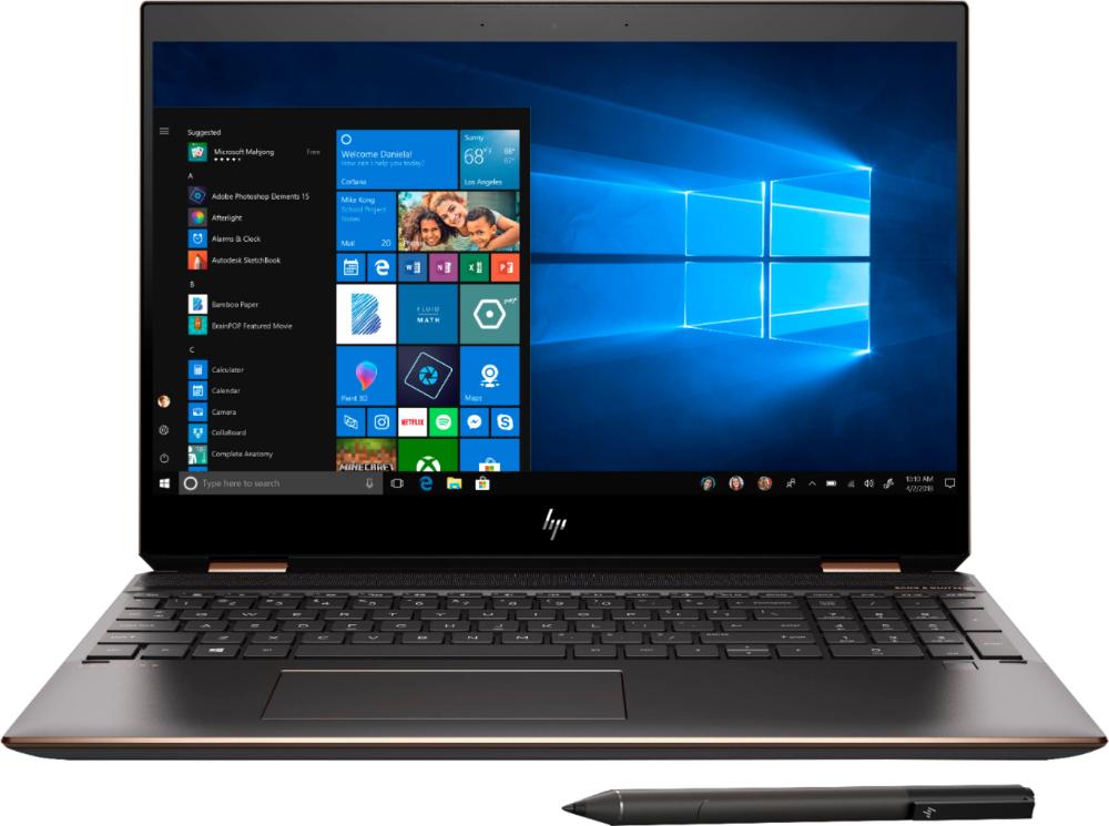 Shop Hp Spectre X360 2 In 1 15 6 4k Ultra Hd Touch Screen Laptop Intel Core I7 16gb Memory 512gb Ssd 32gb Optane Dark Ash Silver Sandblasted A Laptop Toshiba