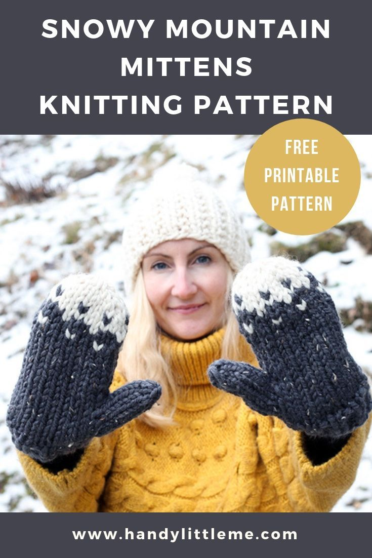 Photo of Snow Mountain Mittens Pattern | Handy Little Me