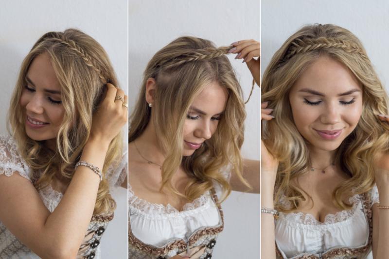 Dirndl Frisuren Fur Mittellange Haare Mit Anleitung Dirndl Frisuren Dirndl Frisur Einfach Dirndl Frisuren Mittellang