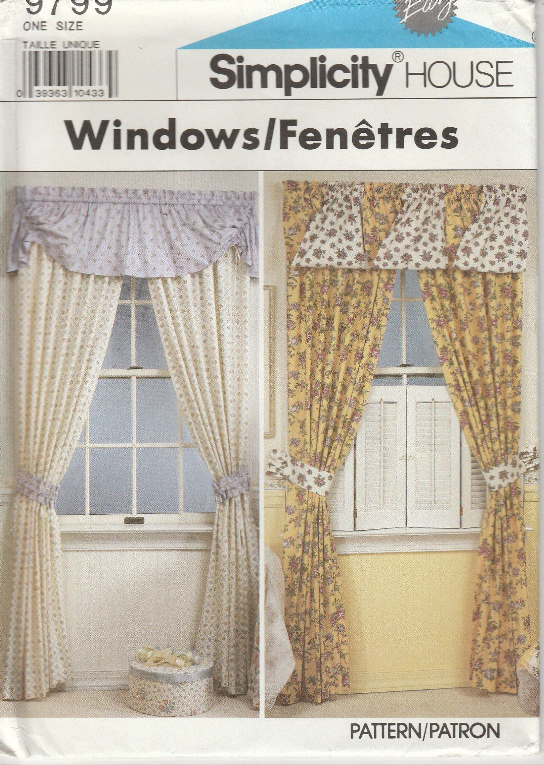 Curtain Pattern Valance Swag Rosettes Bustle Roll Up Shade More