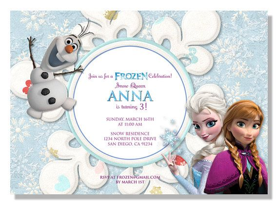 frozen birthday invitations (25 pack) on etsy, $41.25 | anna, Birthday invitations