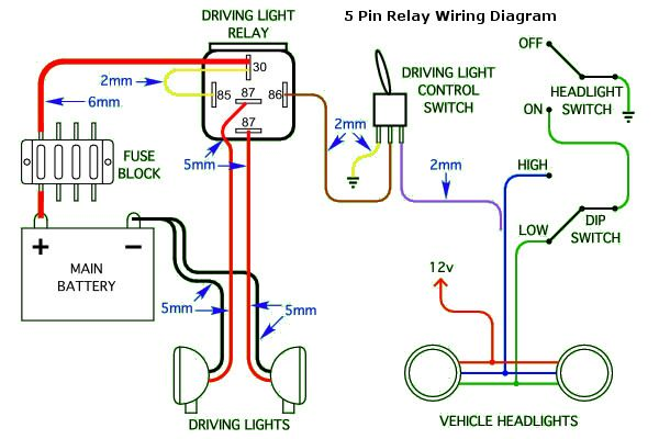 5 Pin Headlight Wiring Diagram for cars and trucks | Car ...  Pin Relay Wiring Diagram Door Lock on