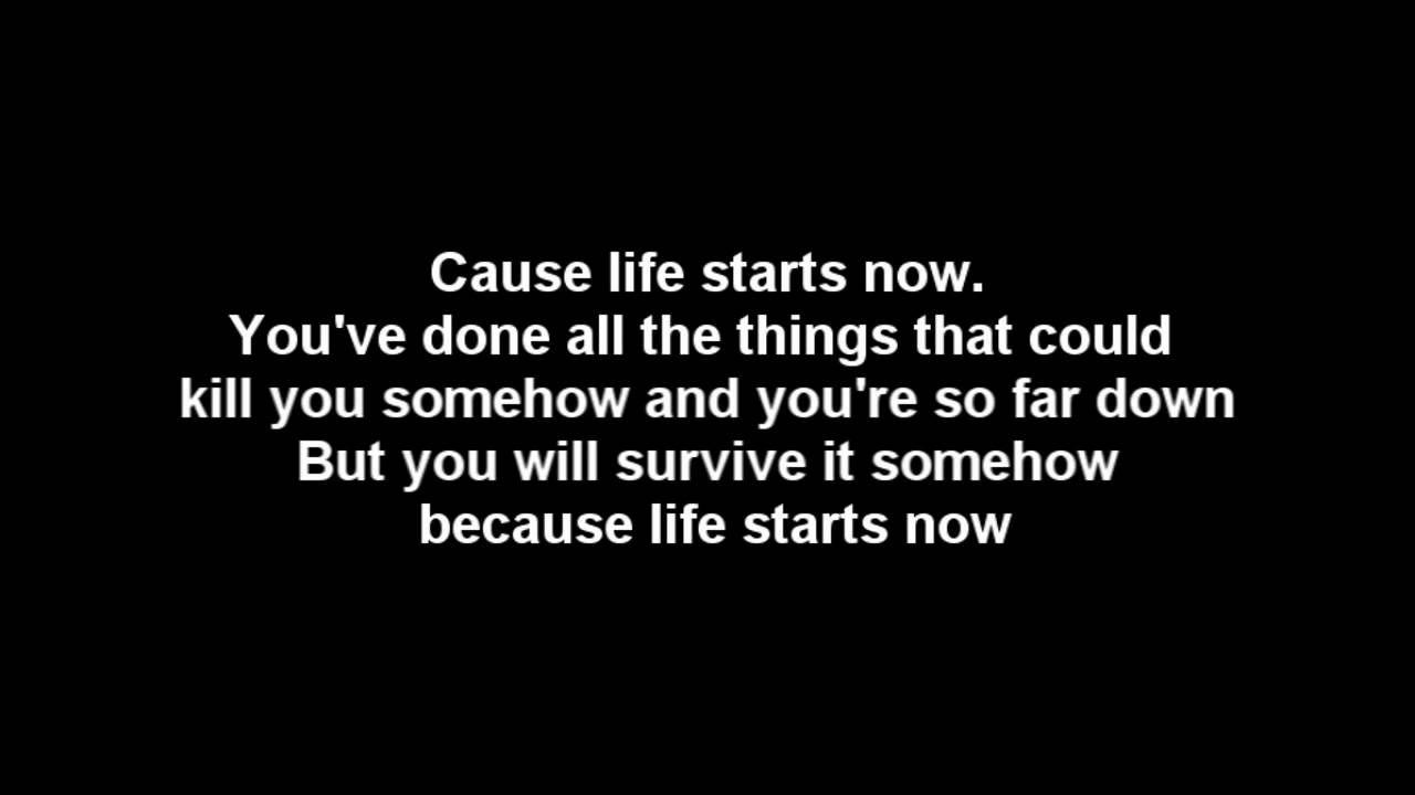 Three Days Grace Life Starts Now Lyrics Hq Audio Now Song Three Days Grace Done With Life