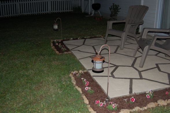 How To Transform Our Patio Slab....cool Ideas