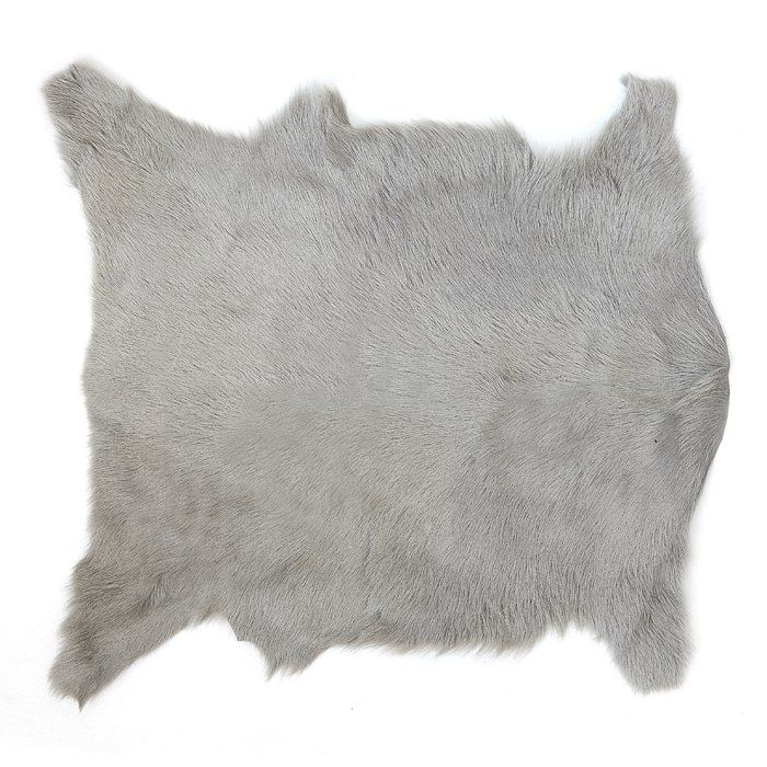 Gray Area Rug Faux Sheepskin