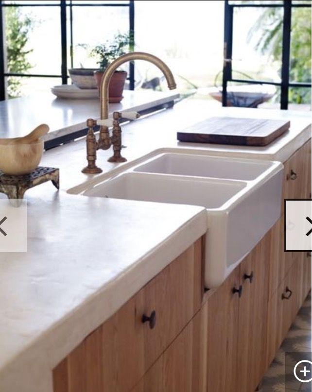 Tadelakt Countertop Tuscan Kitchen Mediterranean Home Decor Kitchen Benches