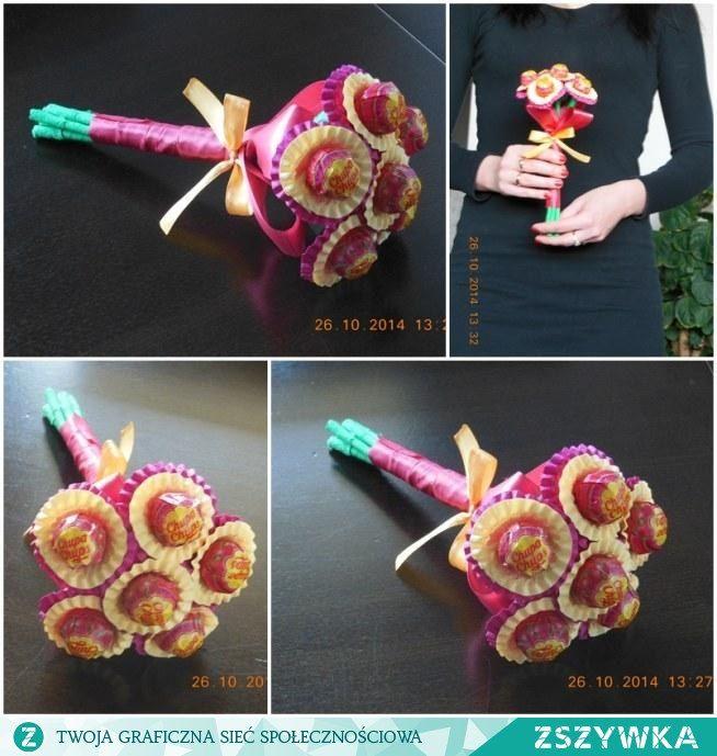 Bukiet Z Lizakow Chupa Chups Crafts Gifts Lollipop