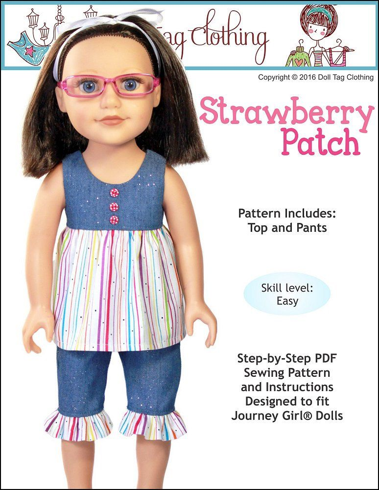 Pixie Faire Doll Tag Clothing Strawberry Patch Doll Clothes Pattern ...
