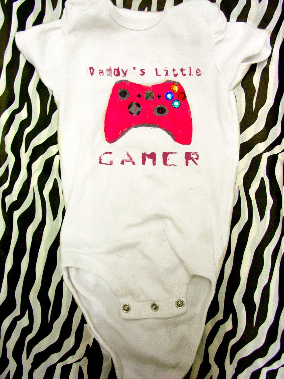 Daddy's Little Gamer Shirt by GeniGreenhill on Etsy, $15.00