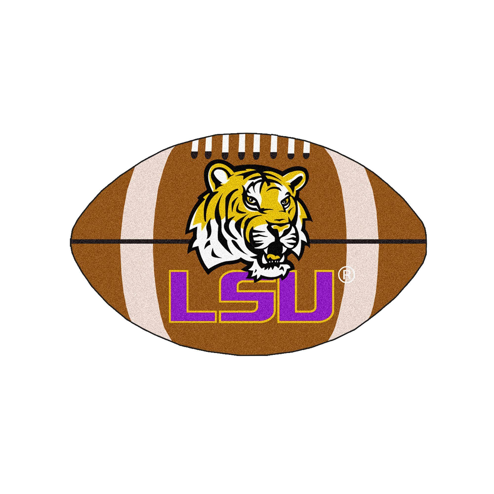 Fanmats Louisiana State Tigers Football Rug, Multicolor