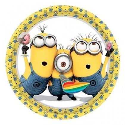 fiestas infantiles feliz cumpleaos secuaces minion divertido secuaces plato dish child parties