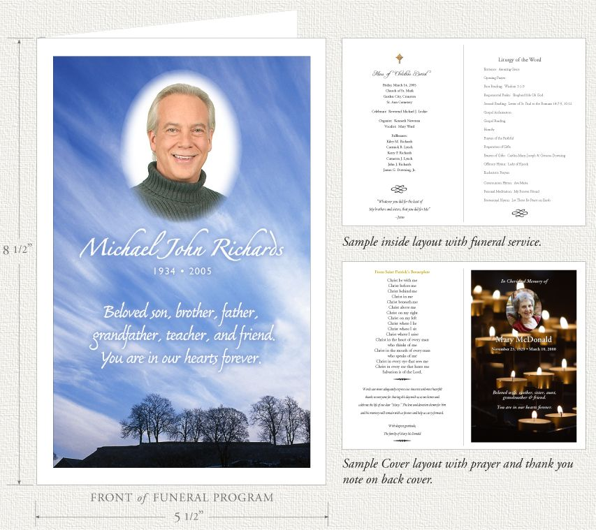 Funeral Programs By Memorial Prayer Cards  Dads Memorial