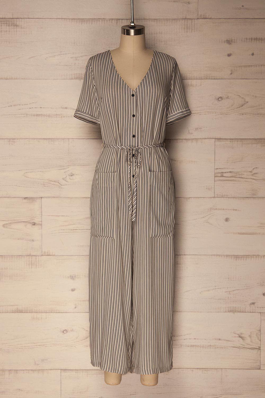 17ed876751d Alpiaz  lapetitegarconne  jumpsuit  romper  onepiece  stripes   blackandwhite  croppedlegs  brown  ootd