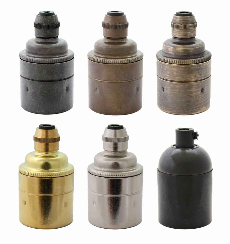 Es E27 Brass Bronze Lamp Bulb Holder Ideal For Vintage Edison Filament Bulbs Bronze Lamp Bulb Vintage Lighting