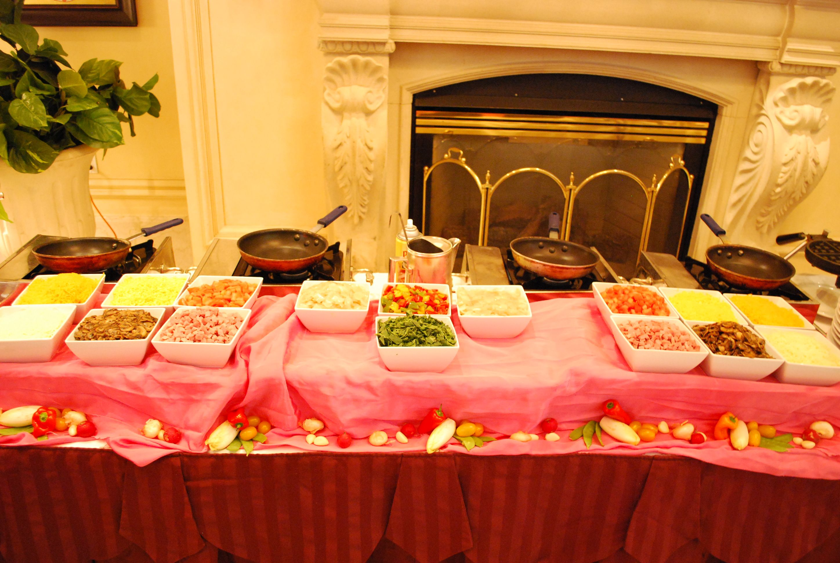 Made To Order Omelet Station At The Garden City Hotel Sunday