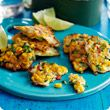 Sweetcorn and chive fritters