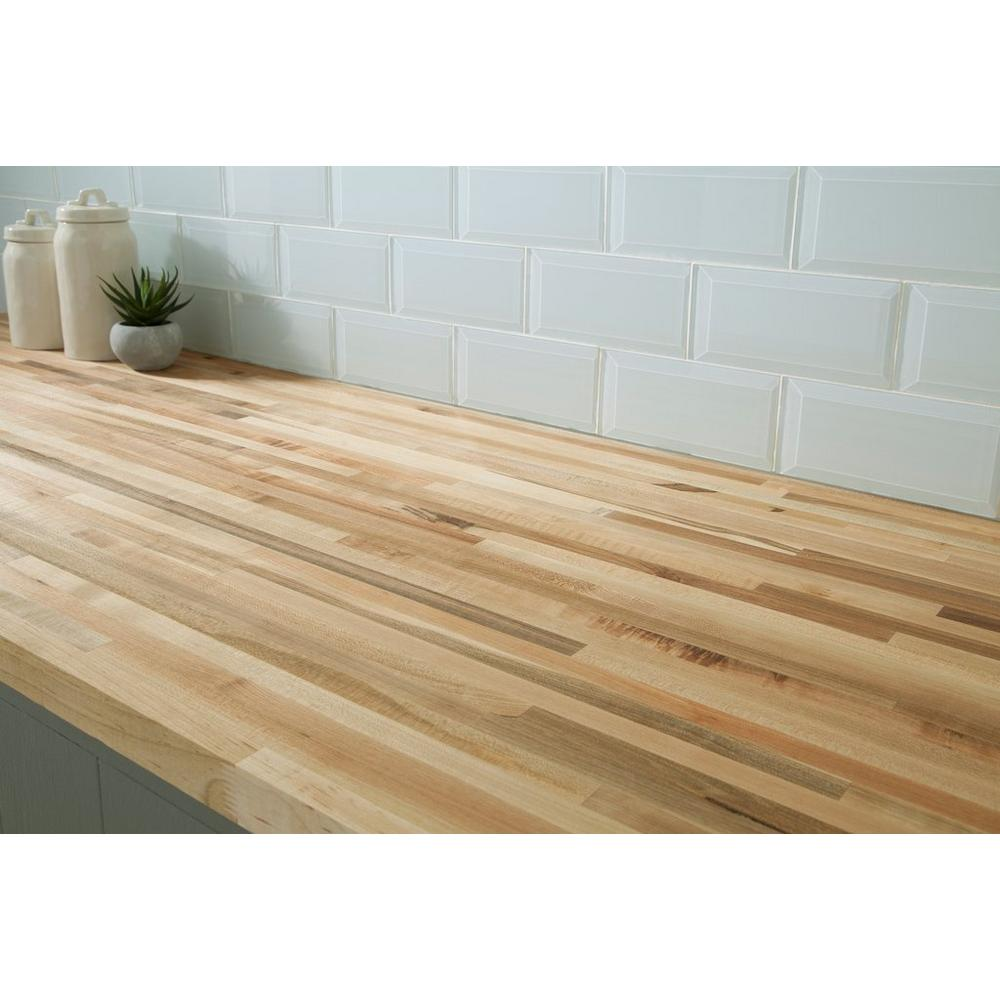 Maple Butcher Block Countertop 12ft Floor Decor Maple Butcher Block Butcher Block Countertops Butcher Block Countertops Kitchen