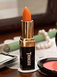 Classic and Discontinued:  Tangee Lipstick.  The color changes to complement your skin.  We all wore it.  Still available at Vermont Country Store.