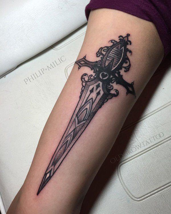50 sword tattoo ideas tattoo sword tattoo and god tattoos for Is god against tattoos