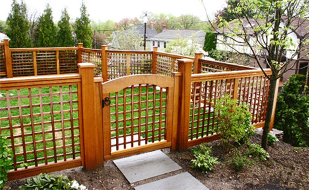 Home Depot Wood Fencing Fence With Lattice Top Fence Panels