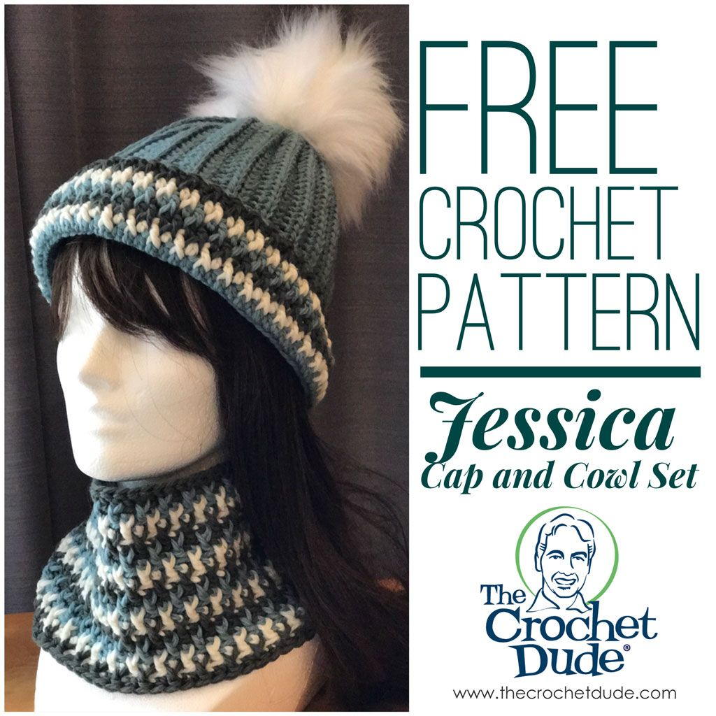 Free crochet hat and cowl patterns: Jessica – The Crochet Dude ...