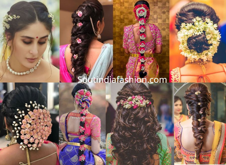 Top 10 South Indian Bridal Hairstyles For Weddings Engagement Etc Hair Styles Indian Bridal Hairstyles Indian Wedding Hairstyles