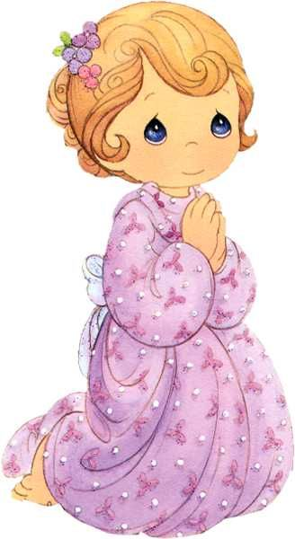Little Girl Praying Precious Moments Coloring Page Precious